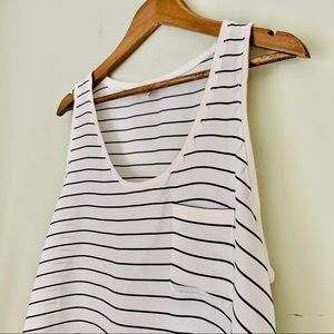 LOFT Striped Tank Blouse Size L
